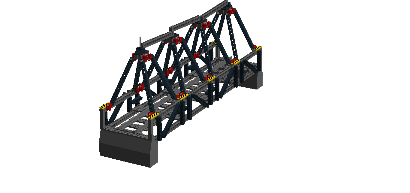 Full Triangular Warren truss bridge.