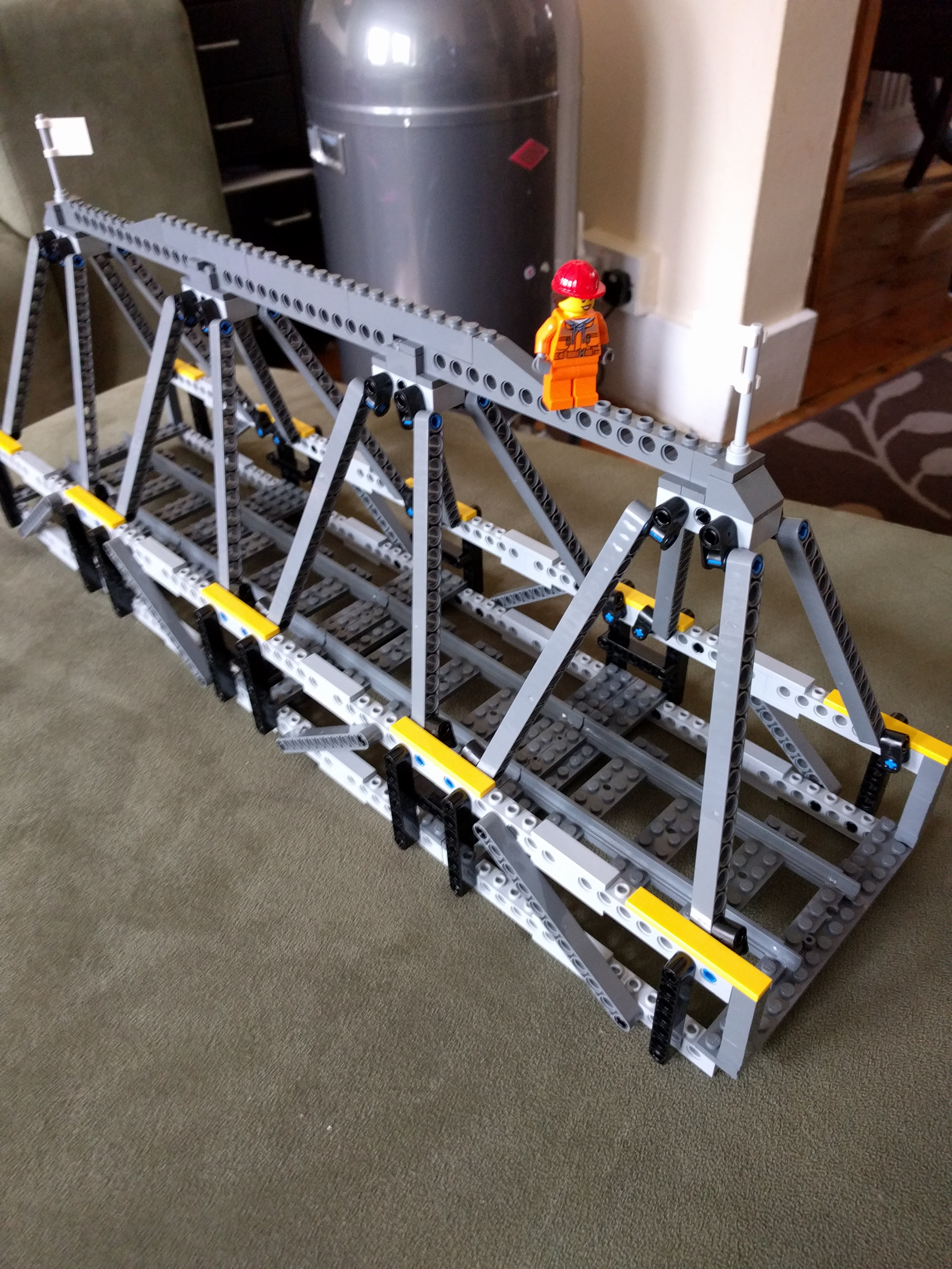 how to incline lego train tracks